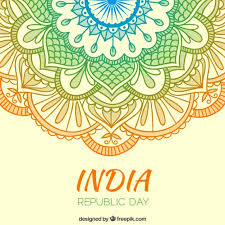 colors ornaments india republic day background vector premium