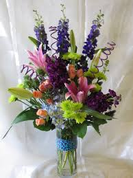 houston florist purple flower arrangement happy birthday deer