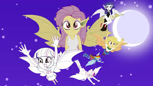 my little pony equestria girls vampire bats coloring book mlp