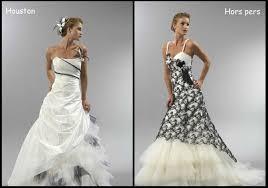 robe de mariée noir et blanc le mariage - Robe De Mari E Noir Et Blanc