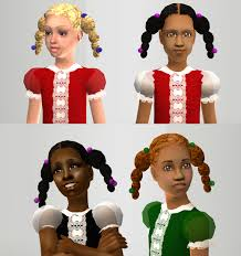 The cuteness of Sims   children   Page       The Sims Forums MTS  LoveTheSims          Kids Side Plaits jpg