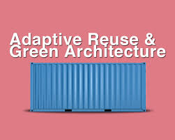 green architecture elevated with the growth of shipping container