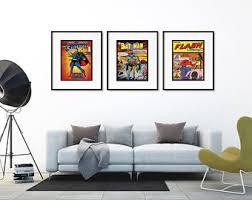 superhero wall art etsy