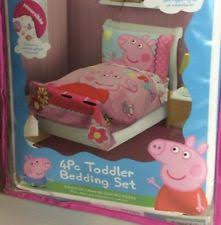 Peppa Pig Bed Set by Peppa Pig Pink 4pc Toddler Crib Bed Bedding Set Ebay