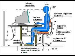 postura corretta scrivania sedia da usare vicino al computer italy