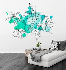 wall decals luulla floral watercolor marine decal wall tattoo modern homes