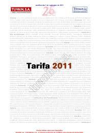 tarifa 2011 tuvain pdf
