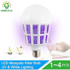 insect killer light bulb greeneye 1 4pcs 2mode uv trap electric shock led mosquito killer