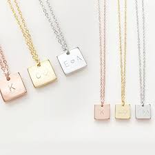 necklaces that say your name initials necklace bridesmaid gift your name necklace