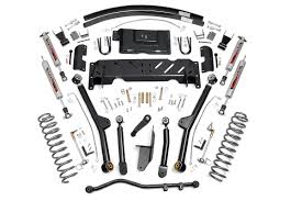 jeep xj lifted 4 5in long arm suspension lift kit for 84 01 jeep xj cherokee