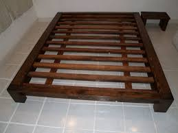 platform bed frame plans re how to build a platform bed frame