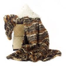 Faux Fur Throw Rugs Posh Pelts Red Fox Tail Throw