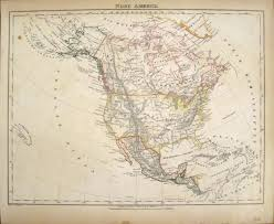 Nord America Map by Antique Maps Of 19th Century North America