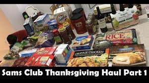 sams club grocery haul thanksgiving haul part 1 shop with me