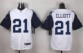 Cowboys Jersey Thanksgiving Nikecowboys 21 Ezekiel Elliott White Men U0027s Stitched Nfl Elite
