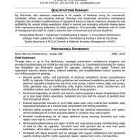 Electrician Resume Samples by Professional Resume Example For Journeyman Electrician