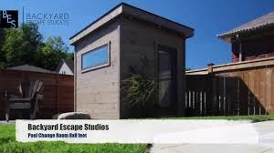 pool change room 8x8 backyard escape studios youtube