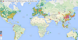 Arizona Map Of Cities by Map Shows Worldwide Air Pollution Business Insider
