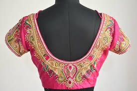 embroidered blouses embroidery blouses for pattu sarees makaroka com