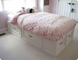 Diy Twin Bed Frame With Storage Bedroom Charming Diy Twin Platform Bed Frame More About Diy Twin