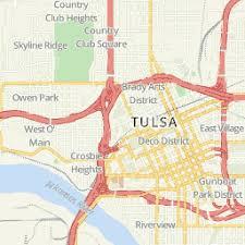 map of tulsa oklahoma state center in tulsa ok rankings