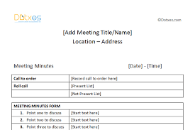outline for meeting minutes templates franklinfire co