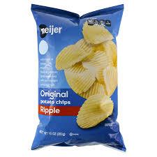 ripple chips meijer ripple potato chips 10 oz meijer