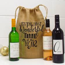 wine gift bag the most wonderful time of the year wine gift bag by