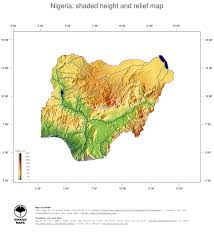 Africa Topographic Map by Map Nigeria Ginkgomaps Continent Africa Region Nigeria