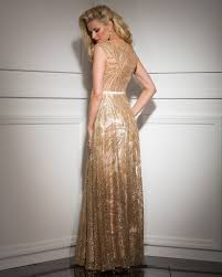 clarisse couture 4504 scoop neck and back cap sleeves metallic