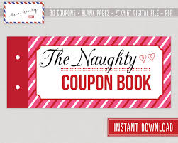 naughty coupon book printable valentine u0027s day by dearhenrydesign