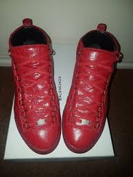 quick sale authentic mens red shiny effect high balenciaga