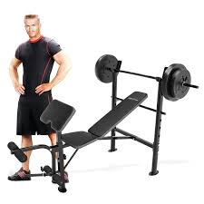 competitor weight bench with 80 lb weight set hayneedle