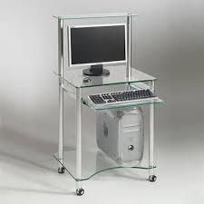 bureau informatique verre trempé meuble ordinateur en verre bureaux prestige