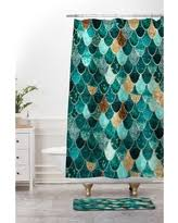 Deny Shower Curtains Great Deals On Blue Monika Strigel Really Mermaid Mystic Comforter