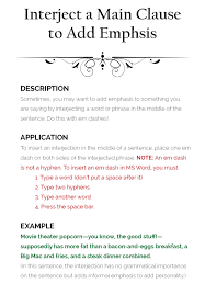 Worksheets On Interjections How To Use Em Dashes U2013 The Visual Communication Guy Designing