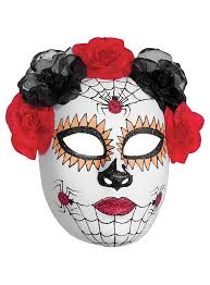 day of the dead masks day of the dead mask spiders maskworld