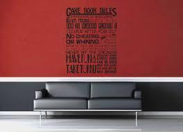 game room rules gamer décor wall decal u2013 geekerymade