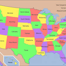 map of america showing states and cities united states map including all cities if every u s state had the