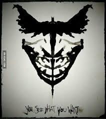 Batman Face Meme - what do you see i see batman joker face meme by vonarmagedda