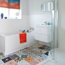 be inspired by this colourful modern bathroom ideal home