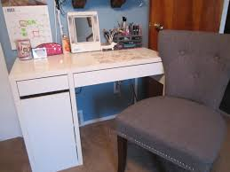 White Desk Glass Top Bathrooms Design Double Vanity With Makeup Station Inch Sink
