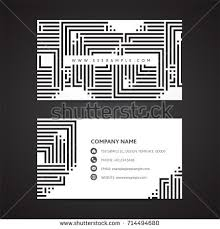 black white business card template 1 stock vector 715151650