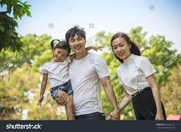 happy family garden portrait happy asian family garden stock photo 402246751