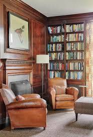 comfy library chairs antique leather club chairs offer a comfy reading spot http www