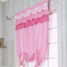 shabby chic pink ruffled tie up shade