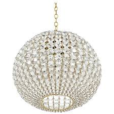 Crystal Chandelier Large Ball Shaped Crystal Chandelier Lamp Austria Circa 1960 For