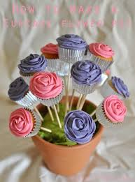cupcake flowers how to make a cupcake flower pot k creations