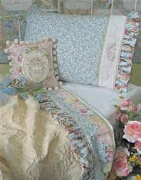 Shabby Chic Pillow Shams by Shabby Green Rose Chic Country Cottage Ruffle Lace Pillow Sham