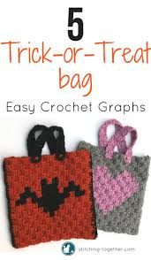 Halloween Treat Bag Craft Halloween Trick Or Treat Bags Free Crochet Pattern Plastic